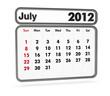 calendar 2012 - july month