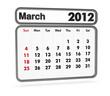 calendar 2012 - march month