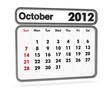 calendar 2012 - october month