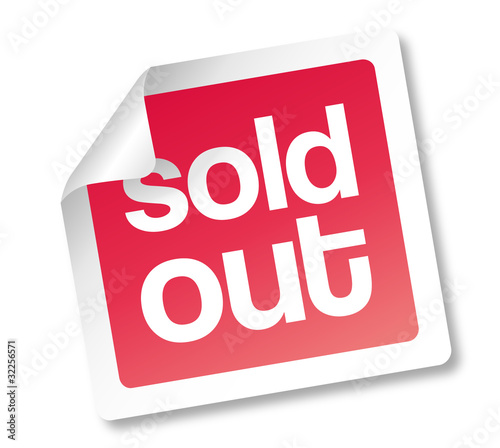Sold out Schild