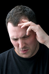 Man With Headache or Migraine Pain