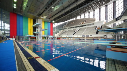swimming pool at sports complex