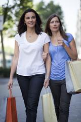 Two woman shopping