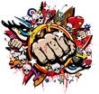 Fototapete Fight - Club - Zeichen / Symbol