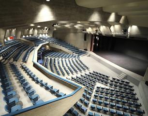 interior of a Congress Palace,  auditorium in Lugano