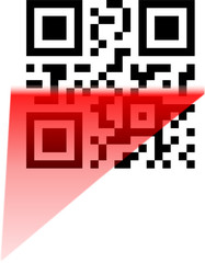 scanning of qr and bbm code
