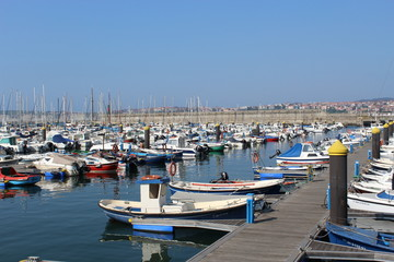 Santurce's Harbor, in Spain