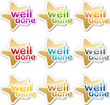 Well done motivation sticker