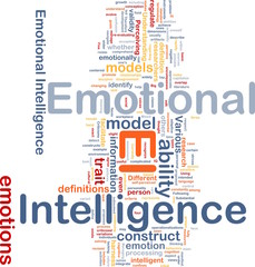 Emotional intelligence background concept