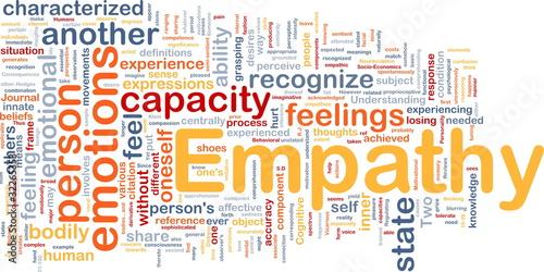 Empathy background concept