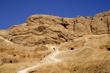 Tomb in the Valley of the Nobles near Luxor in Egypt