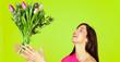 catch the flower bouquet