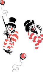 Mime Artist Illustration