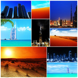 Collage of United Arab Emirates images - Fine Art prints