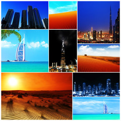 Collage of United Arab Emirates images
