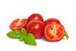Leinwanddruck Bild - Tomaten mit Basilikum