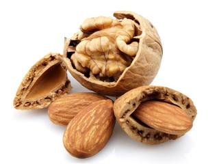 Walnuts and almond