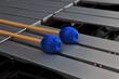 Leinwanddruck Bild - Vibraphon mit Schlägeln