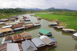 Landscape of houseboats