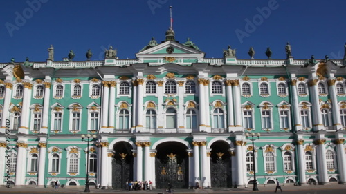 Winter Palace in St Petersburg, panorama from right to left