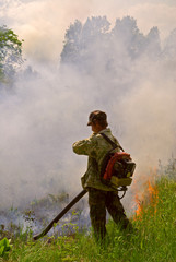 Suppression of forest fire 77