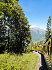 Cog-wheel train to Jungfrau at the Swiss Alps