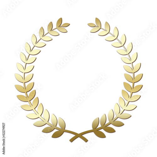 Golden Olive Branch Wreath