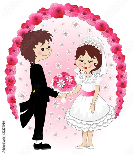 Sposi Coppia Matrimonio-Weddings Married Couple Background