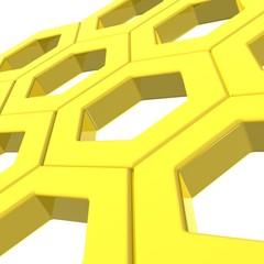 Reticolo esagonale - Hexagonal web