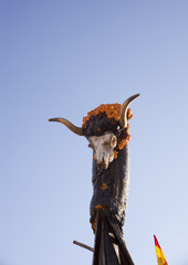 Sculpture cof an animal with horns