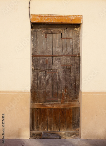 Old door of a poor house