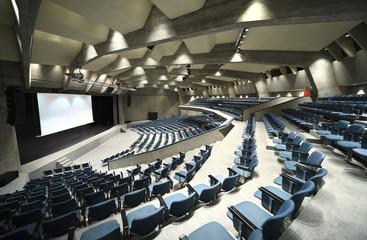 interior of a Congress Palace, audience . Lugano