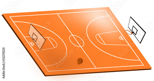 Campo da basket by coradazzir royalty free vectors for Campo da basket regolamentare