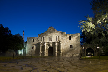 Alamo Morning - wide low angle