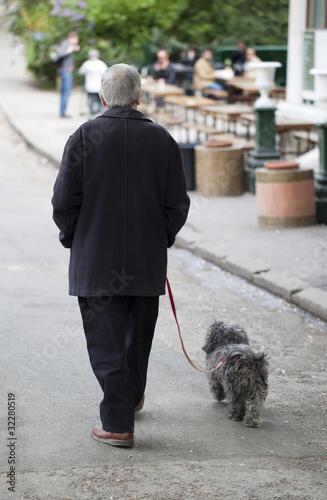 retraite et promenade avec son chien de laurent hamels photo libre de droits 32280519 sur. Black Bedroom Furniture Sets. Home Design Ideas