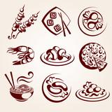 Fototapety food elements set