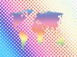 ハーフトーンパターンの世界地図