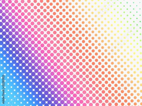カラーハーフトーンパターン