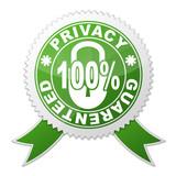 Sello PRIVACY GUARANTEED 100% poster