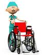 scrubs wheelchair