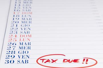 scadenza pagamento delle tasse