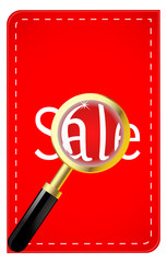 Magnifying glass with inscription sale