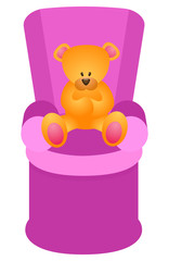 Bear in armchair