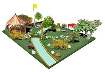 Giardino Parco Pubblico-Public Garden-3d