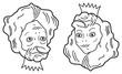 Optical illusion. Young beautiful princess or old ugly woman?