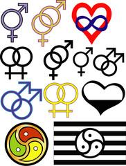 Sexuality symbols
