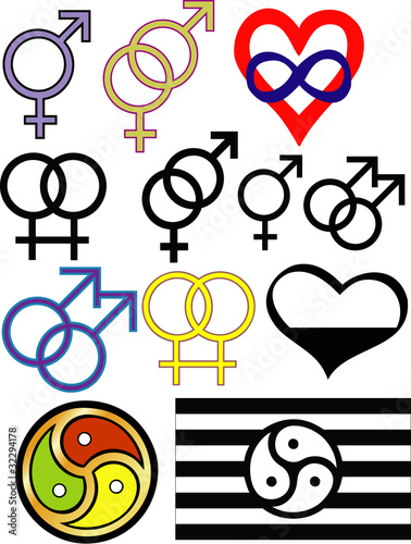Sexuality and identity symbols (not a complete list)