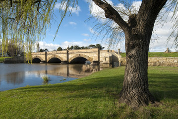 Convict built bridge at Ross on Macquarie River, Tasmania