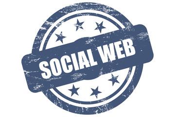 Sternen Stempel blau SOCIAL WEB