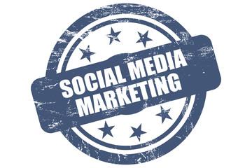 Sternen Stempel blau SOCIAL MEDIA MARKETING